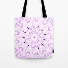 lavender Mandala Explosion Tote Bag