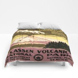 Vintage poster - Lassen Volcanic National Park Comforters