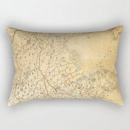 Map of Zhili and Shandong, China (c1855-1870) Rectangular Pillow