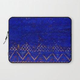 -A5- Royal Calm Blue Bohemian Moroccan Artwork. Laptop Sleeve