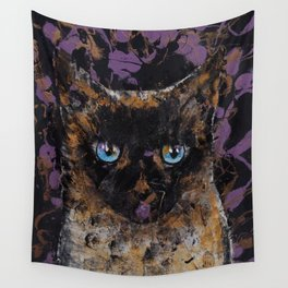 Balinese Cat Wall Tapestry