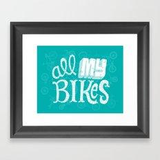 All My Bikes Framed Art Print