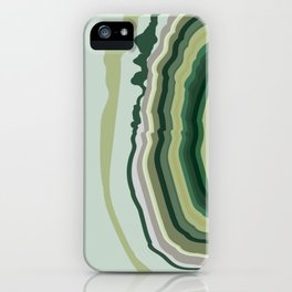 Green Geode Slice iPhone Case