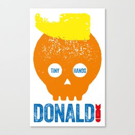 DONALD TRUMP, TYPOGRAPHIC ILLUSTRATION Canvas Print