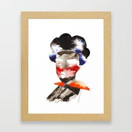 Dark Skinned Fashion Soldier Framed Art Print