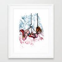 bondage Framed Art Prints featuring Bondage Wonderowman by lucille umali