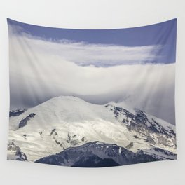 Mountain Top of Mt Rainier Wall Tapestry