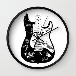 Stratocaster Blackie 1977 Wall Clock