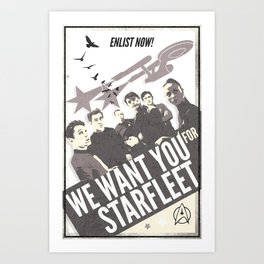 WE WANT YOU FOR STARFLEET! Art Print