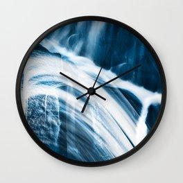 Blue Banshee Falls Wall Clock