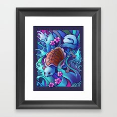 Water Turtle Framed Art Print