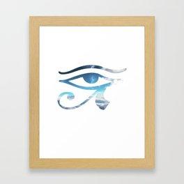 Eye of Horus Sky Background Framed Art Print