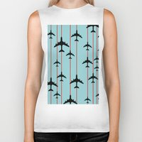 planes Biker Tanks featuring Planes by Frances Roughton