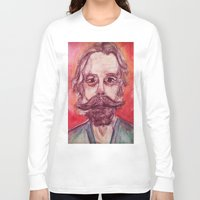 grateful dead Long Sleeve T-shirts featuring Bob Weir Watercolor Portrait Grateful Dead by Acorn