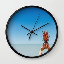 Pineapple summer loving Wall Clock