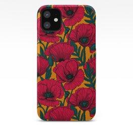Red poppy garden    iPhone Case