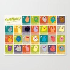 Germ Inspired Alphabet Canvas Print