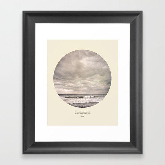 love the sea.... Framed Art Print