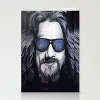 lebowski Stationery Cards featuring The Dude Lebowski by Black Neon
