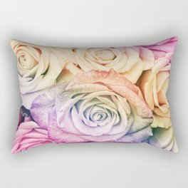Some people grumble- Colorful Roses- Rose pattern Rectangular Pillow