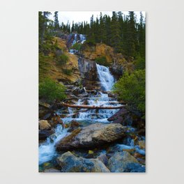 Tangle Falls in Jasper National Park, Canada Canvas Print