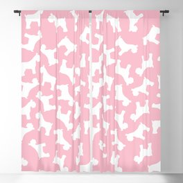 Pink Schnauzers - Simple Dog Silhouettes Blackout Curtain