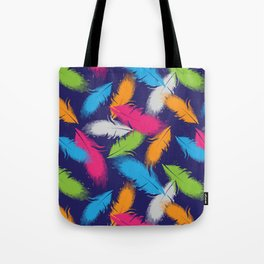 Bright Falling Feathers Tote Bag