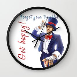 House - Forget your troubles... Get Happy! Wall Clock