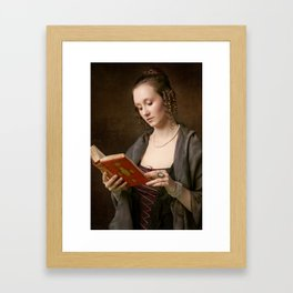 Girl with a Book Framed Art Print