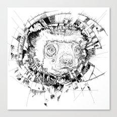 HYPNOTIZED Lemur Canvas Print