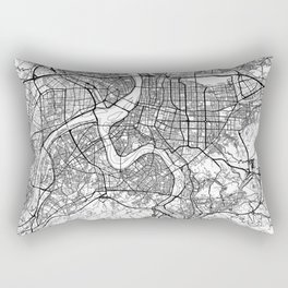 Taipei Map White Rectangular Pillow