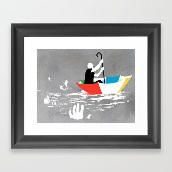 Staying Afloat Framed Art Print