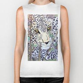 Never Resting - Leopard by Maureen Donovan Biker Tank