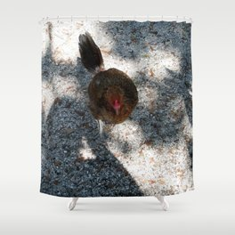 Along came Chicken Shower Curtain