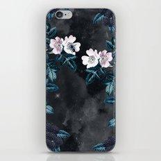 Night Garden Bees Wild Blackberry iPhone & iPod Skin