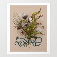 north carolina Art Prints featuring North Carolina Memories by Jessica Roux