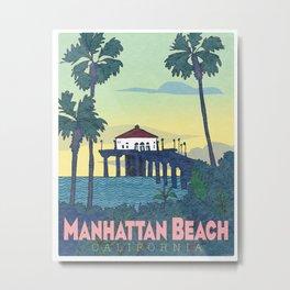 Manhattan Beach Poster -e. e. kono Metal Print