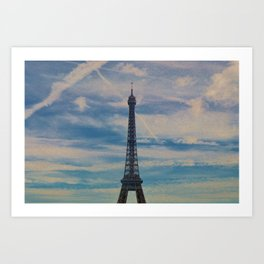 Eiffel Tower, Paris (Landscape) Art Print