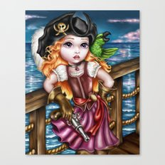 Pirate Girl Canvas Print