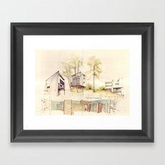 Le Corbusier, Weißenhofsiedlung Framed Art Print