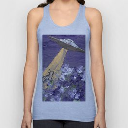 Abduction of the Delighted Lamb Unisex Tank Top