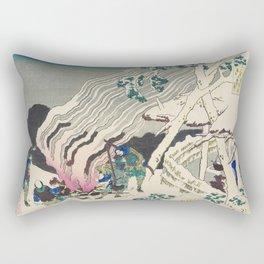 Minamoto no Muneyuki Ason by Katsushika Hokusai (1760-1849) a traditional Japanese Ukyio-e style  an Rectangular Pillow