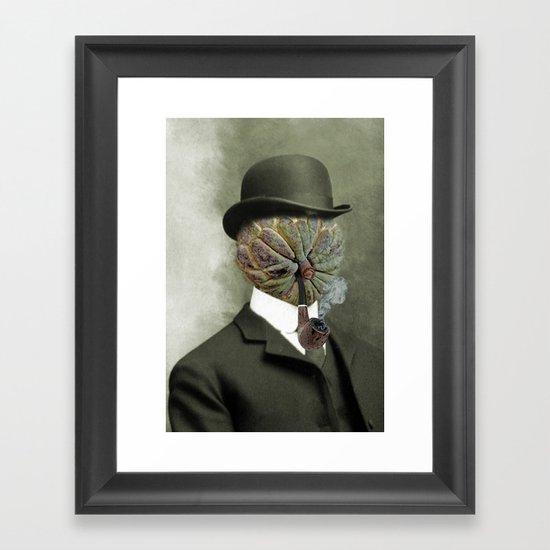 Sir Custard Bowler Framed Art Print