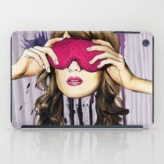 Pink blind fold iPad Case