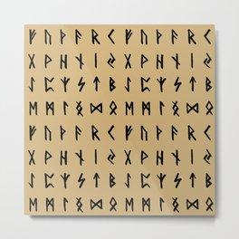 Nordic Runes // Calico Metal Print