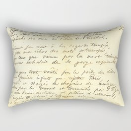 "Charles Baudelaire ""Le Vin des Chiffonniers"" offered to H. Daumier Rectangular Pillow"