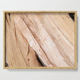 Firewood for heating the house of the deck into the oven Serving Tray