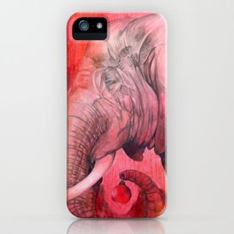 Old Elephant's Christmas iPhone Case