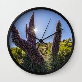 Tajinastes flower Wall Clock