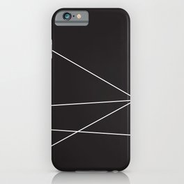 4 White Lines 2 iPhone Case